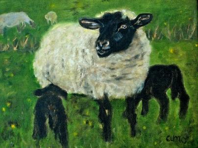 Ewe with Lambs (2)
